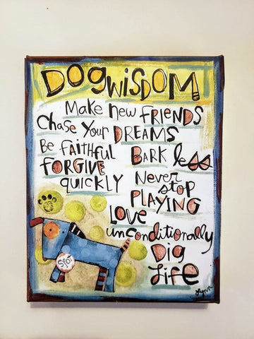 Canvas Art- Dog Wisdom