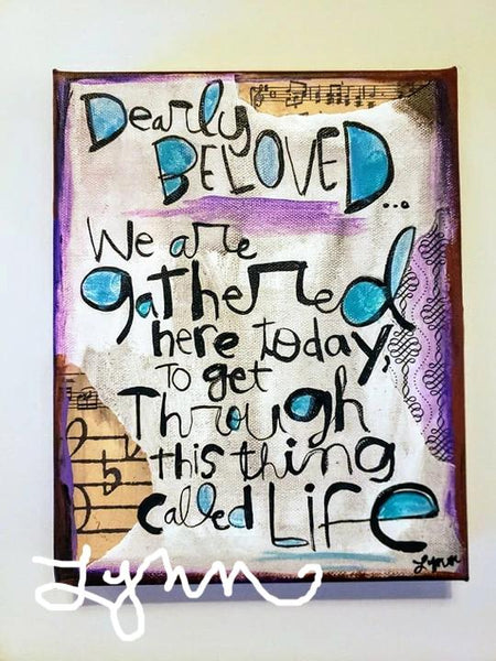 Canvas Art- Dearly Beloved