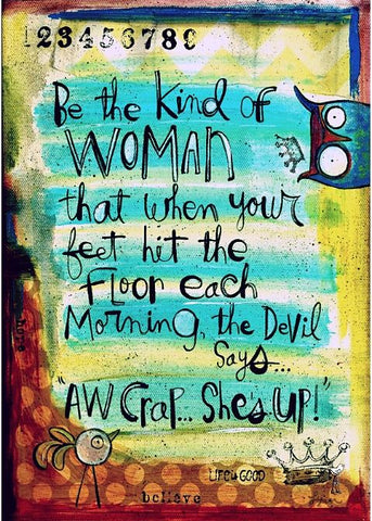 Greeting Card- Shes UP