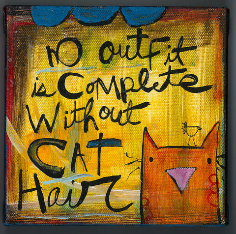Canvas Art- Cat hair