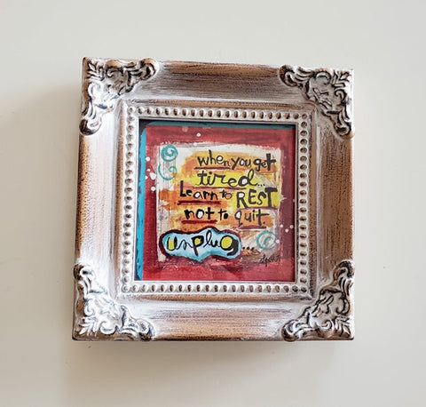 Framed Mini Art-UNPLUG