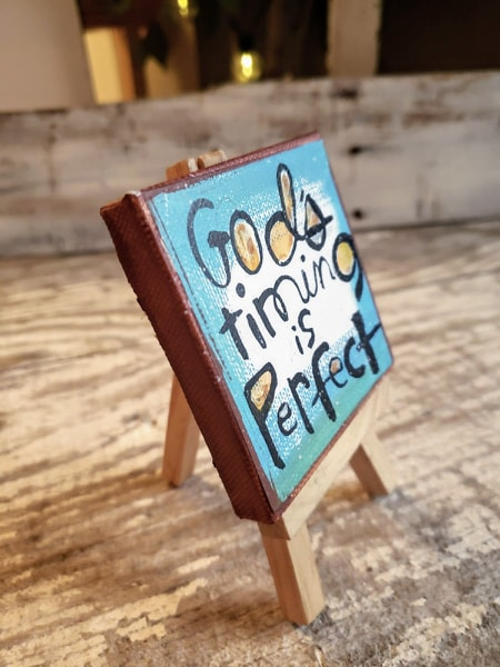 Mini Canvas & Easel-Gods Timing