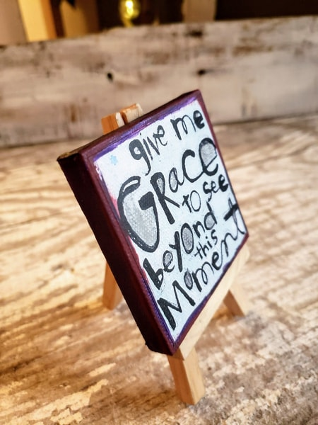 Mini Canvas & Easel-Give me GRACE