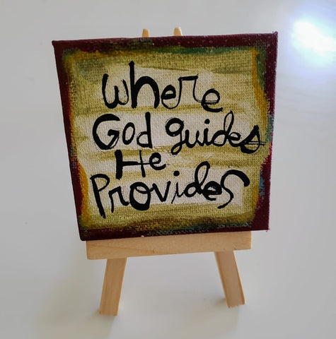 Mini Canvas & Easel-God provides