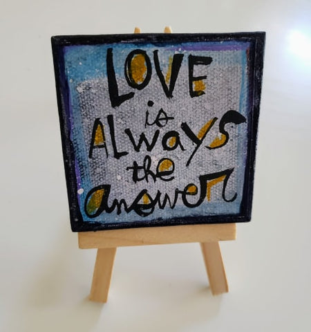 Mini Canvas & Easel-LOVE answer