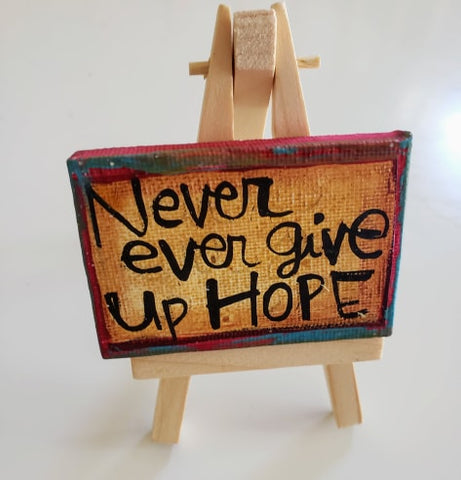Mini Canvas & Easel-HOPE