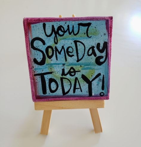 Mini Canvas & Easel-Someday