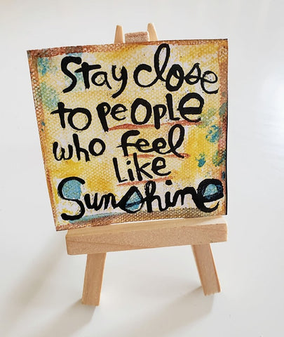 Mini Canvas & Easel-Sunshine