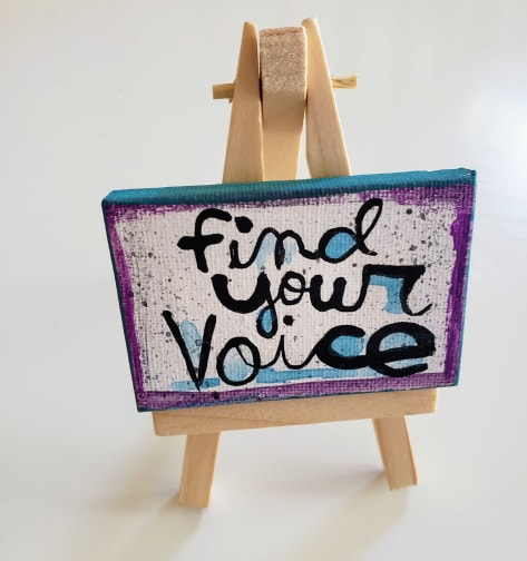Mini Canvas & Easel-your Voice