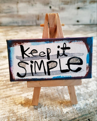 Keep it SIMPLE Mini canvas