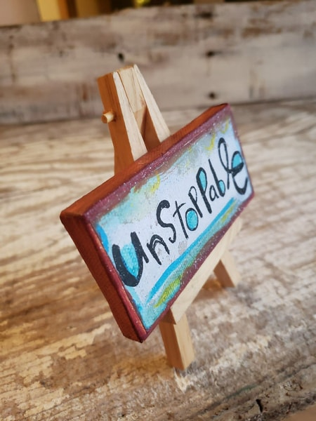 Mini Canvas & Easel-Unstoppable