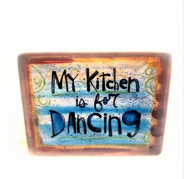 Kitchen Dance Metal Plaque