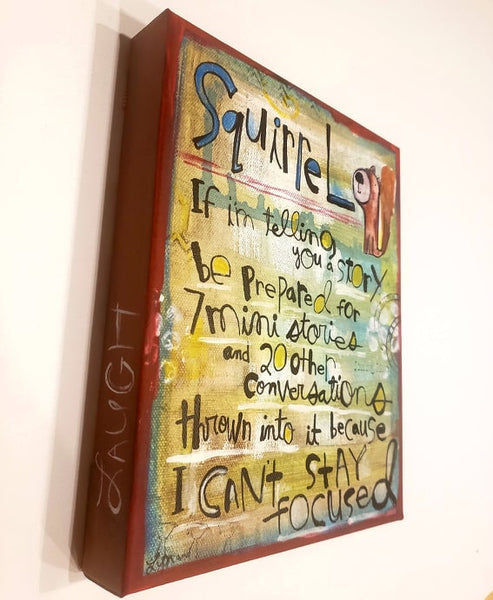 Canvas Art -Squirrel Focus