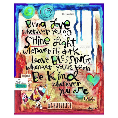 Art Print- Bring Love, Shine Light