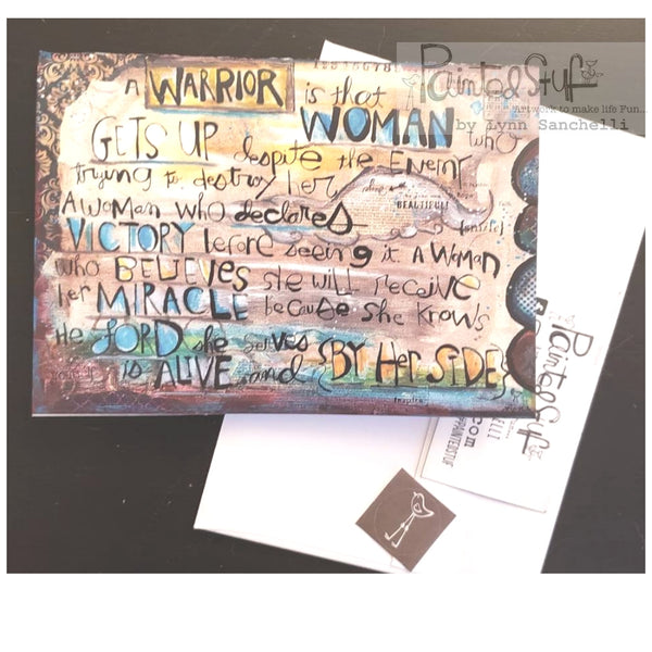 Warrior Woman card /envelope