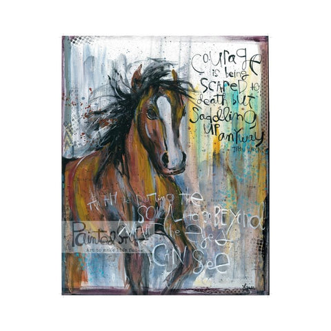 Art Print- Horse- Courage