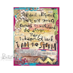 I am the storm art print