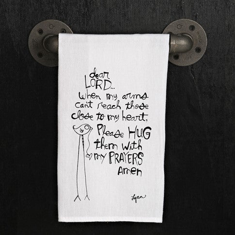 Tea towel- Hugs Prayers