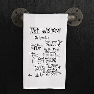 Tea towel- Cat Wisdom