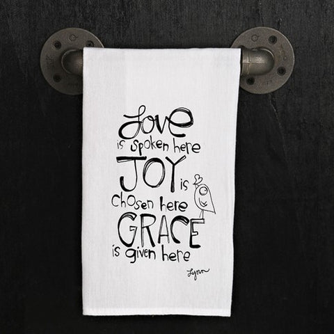 Tea towel- Love, Joy, Grace
