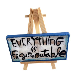 Mini Canvas & Easel-Figureoutable