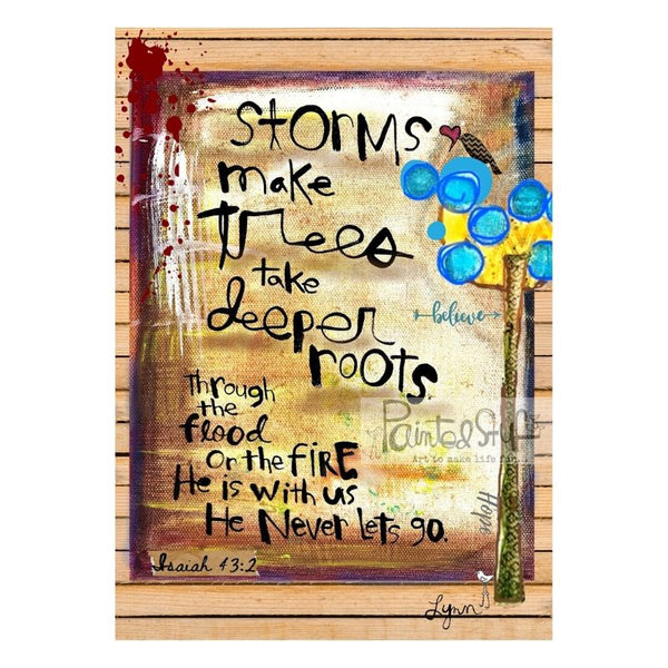 Greeting Card- Storm Deeper Roots