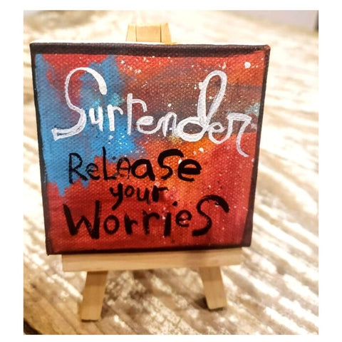Mini Canvas & Easel-Surrender