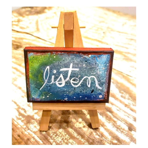 Mini canvas Listen