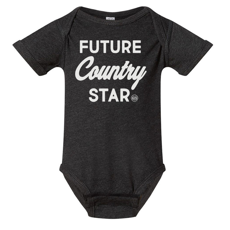 Future Country Star Onesie - Heather Black