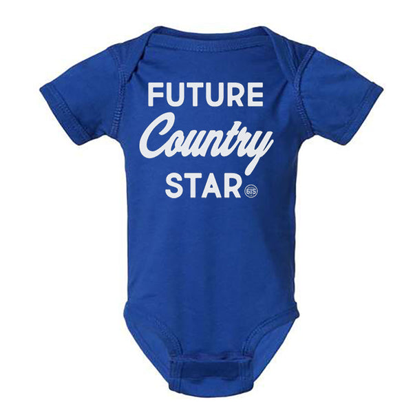 Future Country Star Onesie - Royal Blue