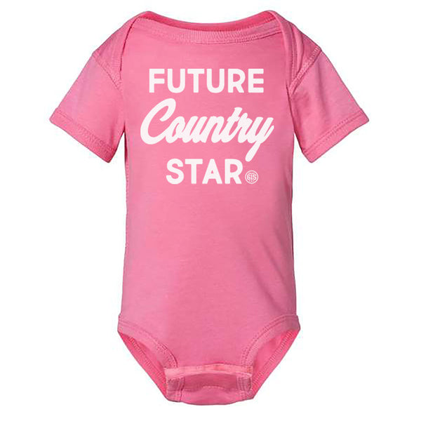 Future Country Star Onesie - Pink