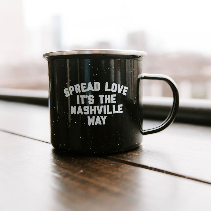 Spread Love Tin Camp Mug