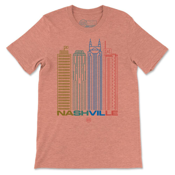 Nashville Tall Buildings Skyline Tee