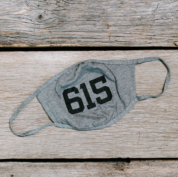 Heather Grey Simple Face Mask