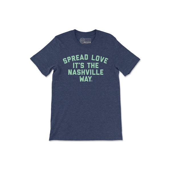 Navy Spread Love Youth Tee
