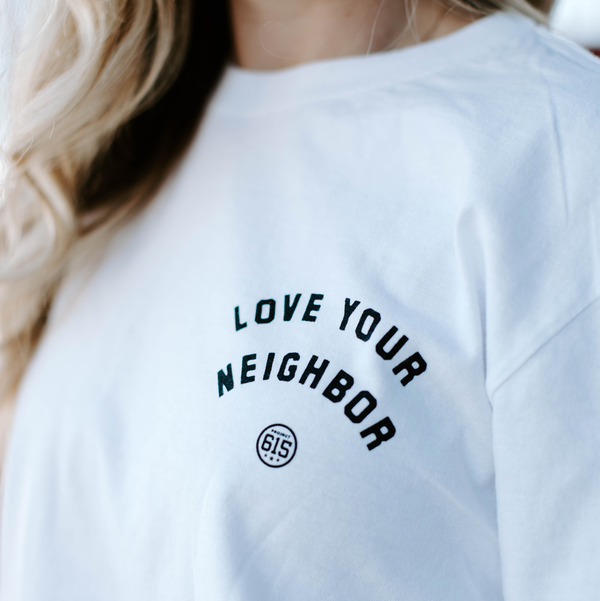 White Love Your Neighbor Long Sleeve