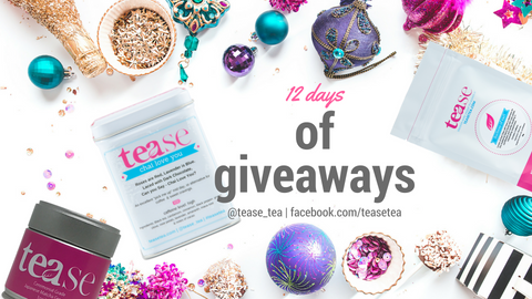 tease tea 12 days of giveaways social media