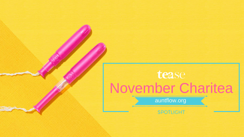 Tease Tea November Charitea Aunt Flow Claire Coder