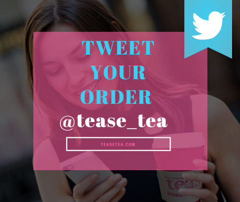 Tease Tea NYC tweet your order new york city gansevort market
