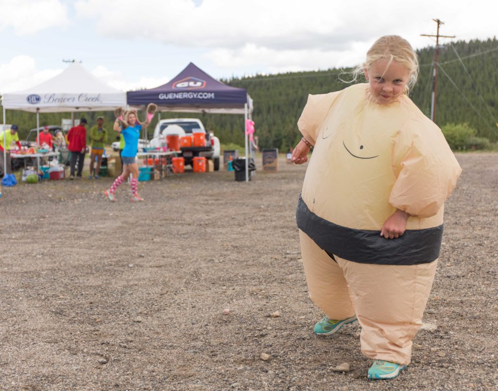 How can you not laugh when you're greeted by a sumo wrestler 14 miles into a 24 mile day?