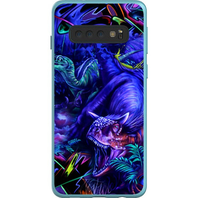 coly_art Samsung blacklighted dinosaurs