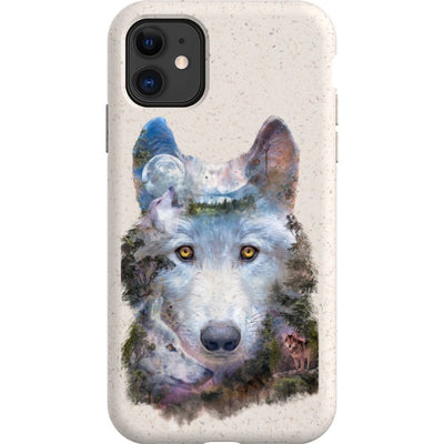 barrettbiggers iPhone Eco-friendly Case wolfmoon