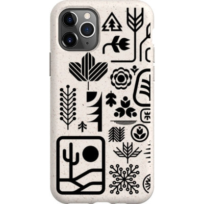 ethnfndr iPhone Eco-friendly Case Earth day black
