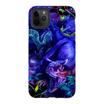 coly_art iPhone blacklighted dinosaurs