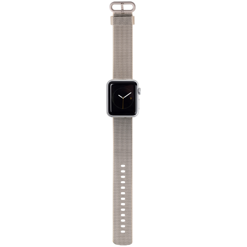 Apple Watch Strap 42mm in Nylon Grey Silver fitting