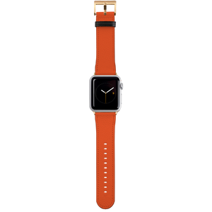 Apple Watch Strap 38mm in PU leather Gold fitting