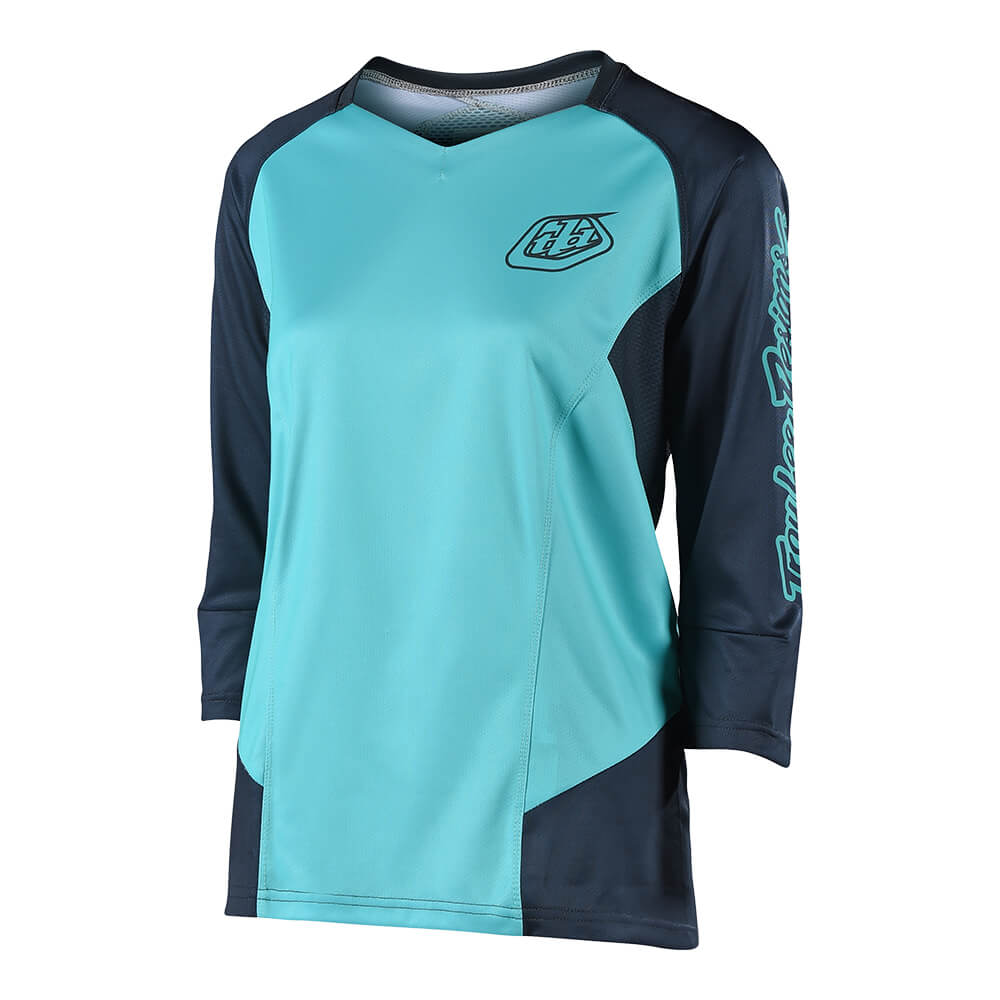 WOMENS RUCKUS 3/4 JERSEY SOLID BLUE / BLUE