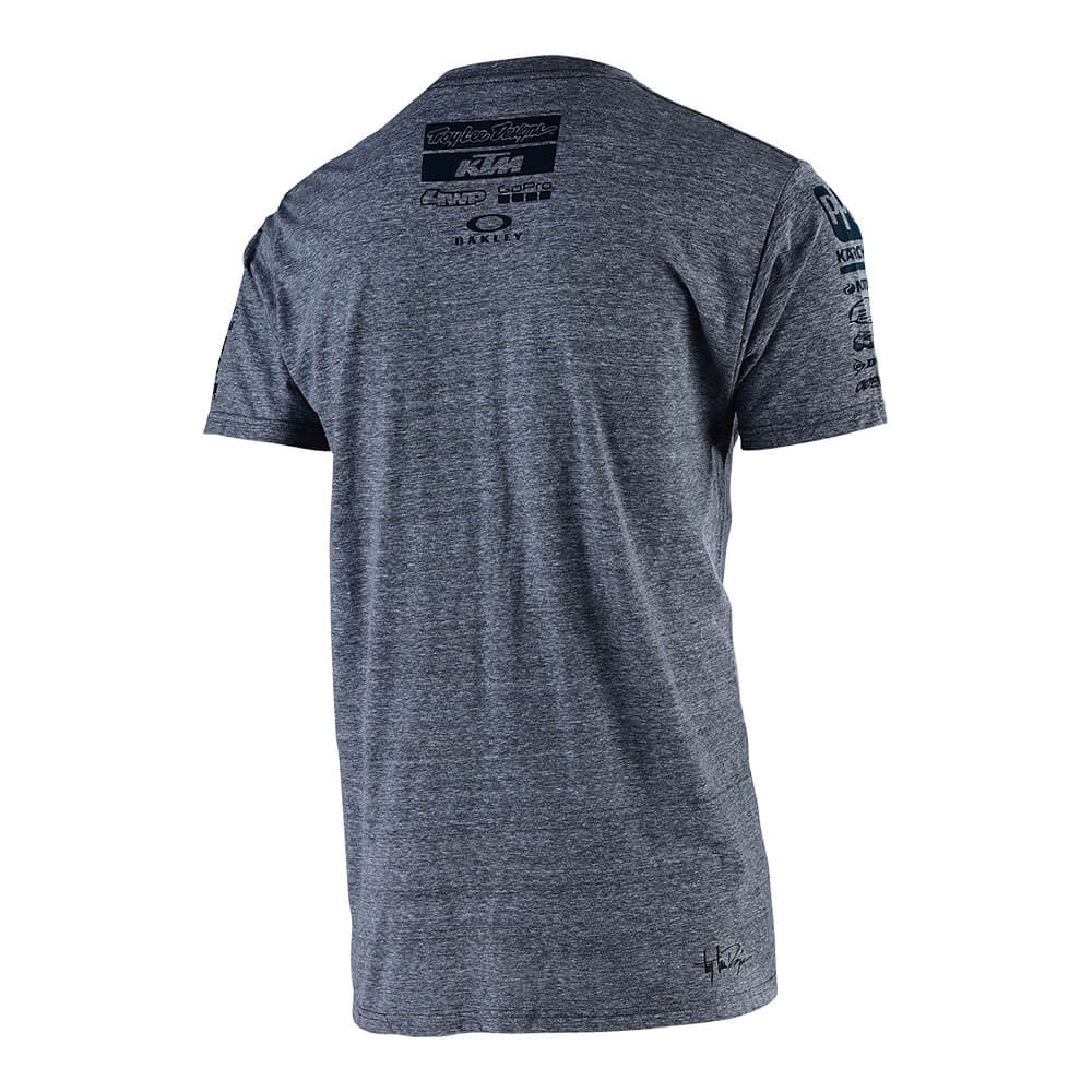 SHORT SLEEVE TEE 2019 TLD KTM TEAM VINTAGE GRAY SNOW