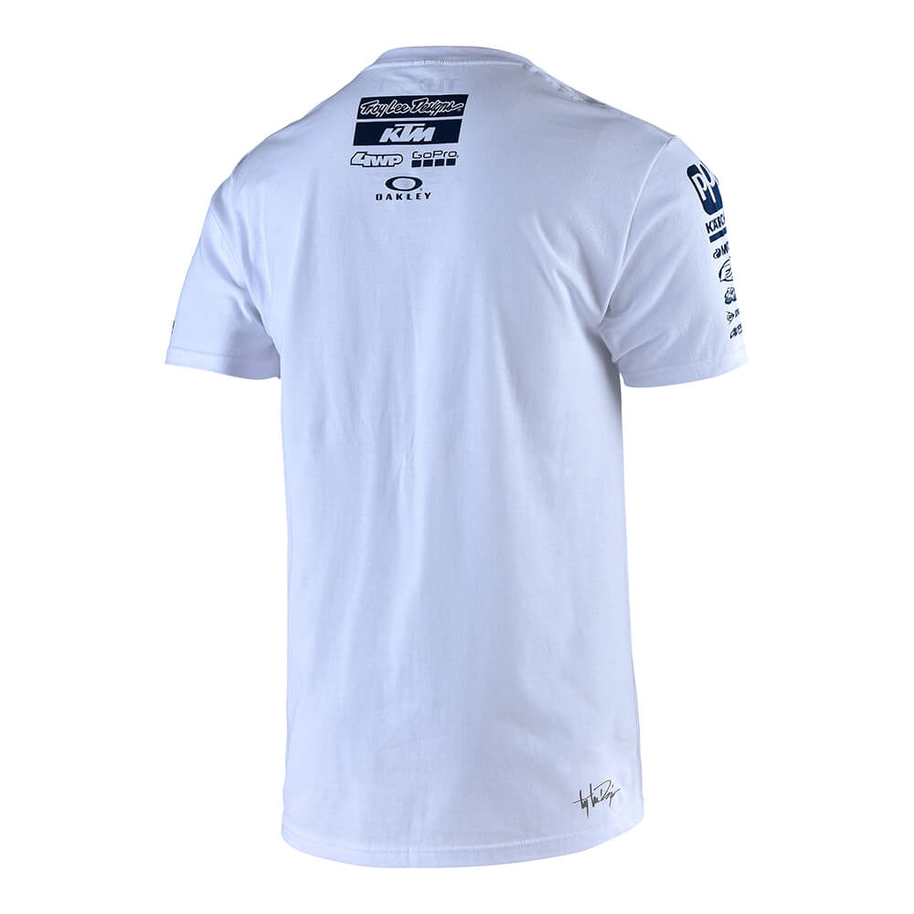 SHORT SLEEVE TEE 2019 TLD KTM TEAM WHITE