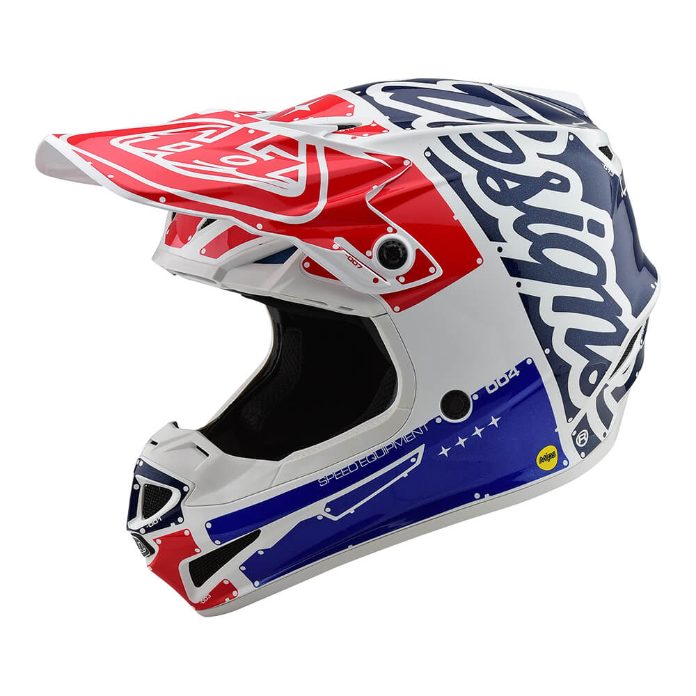 YOUTH SE4 POLYACRYLITE HELMET W/MIPS FACTORY WHITE / BLUE